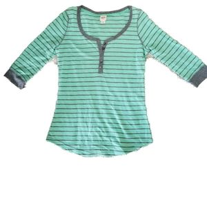 🎃 5/$20 Mossimo striped sweatshirt mint Top